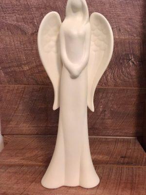 Angyal fehér ruhában, nagy méretű